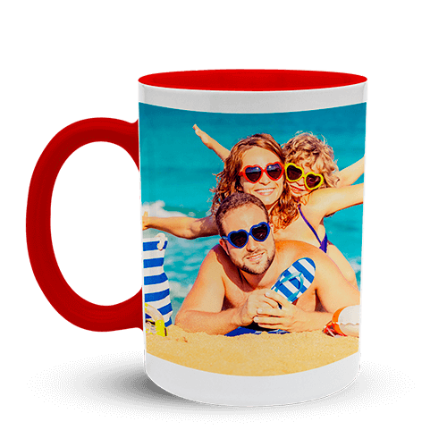 Mug Classic white with red interior
